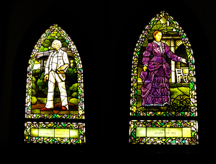 Mark Twain stained glass