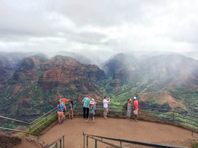 Hiking Waimea Canyon in Kauai. Photo: Mindy Marzec, This Fairy Tale Life