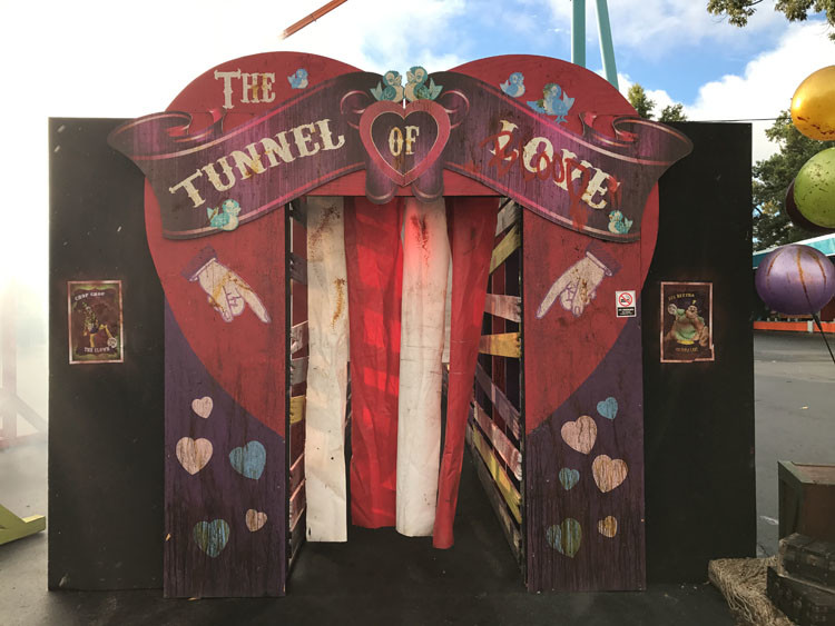 """One of the many """"free scare"""" mazes open during Fright Fest."""