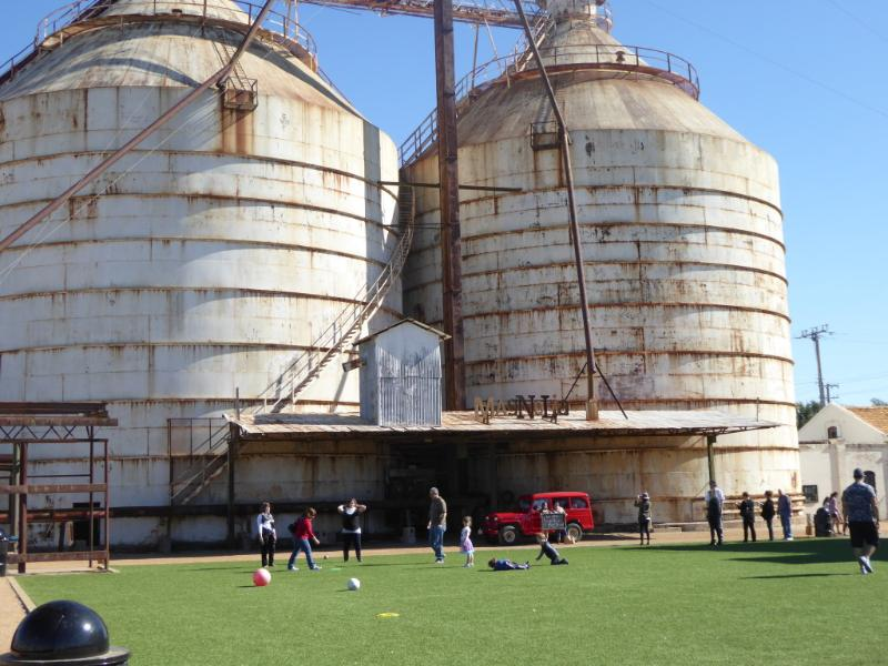 Lawn games at Magnolia Market at the Silos in Waco, Texas.
