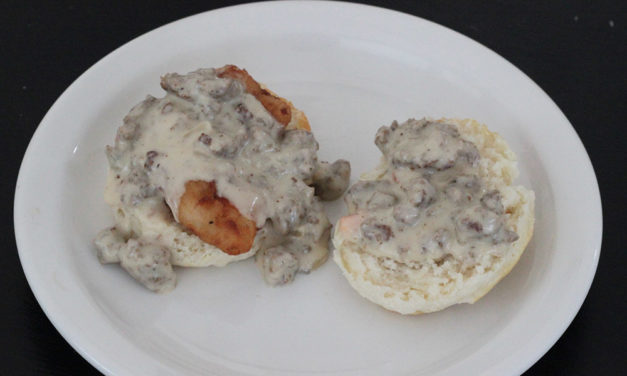 Recreate a Charleston, SC Favorite: Chicken Biscuits with Sausage Gravy