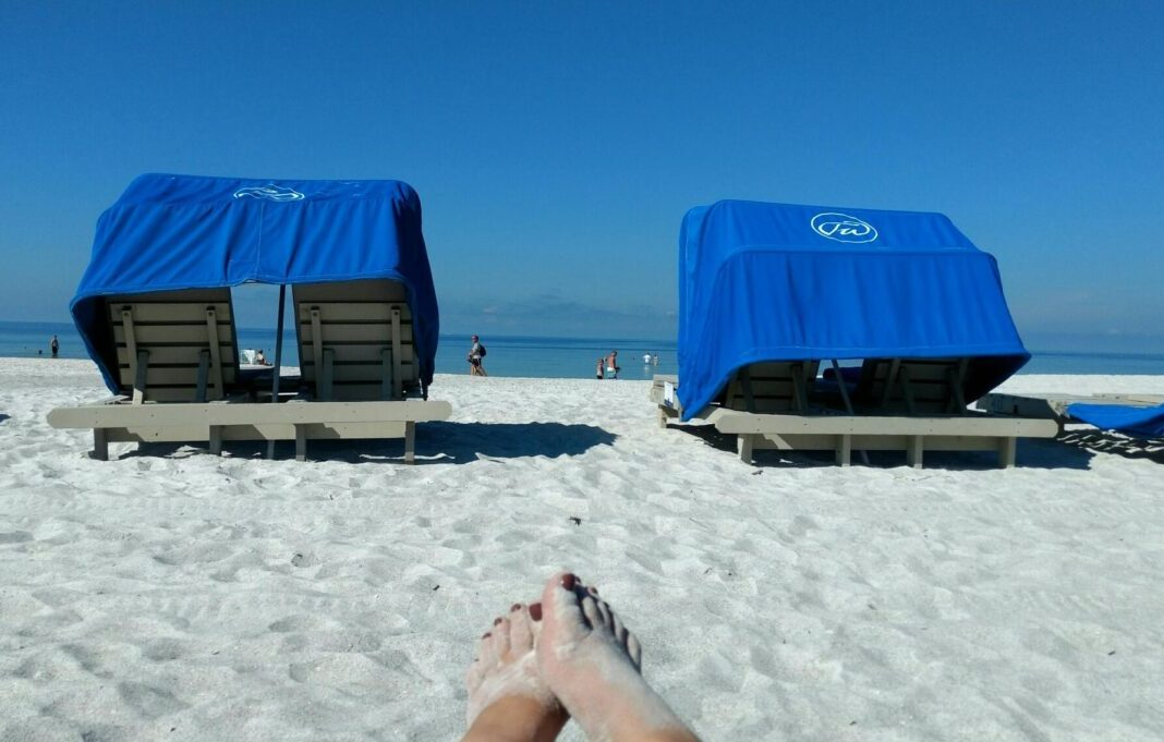 Cabanas at at Tradewinds Island Resort, which is comprised of two St. Petersburg FL hotels.