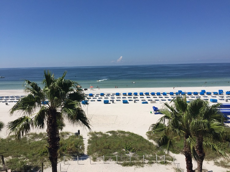 Amazing view from a gulf front room Tradewinds Island Grand Resort. Photo credit: Gwen Kleist, Healthy TravelingMom.