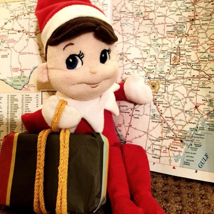 Traveling Elf on the Shelf will use Santa tracker to make his way back to your family.