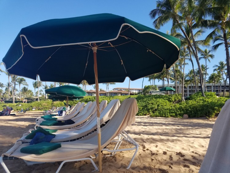 get your chairs set up on the beach for you at wailea beach villas