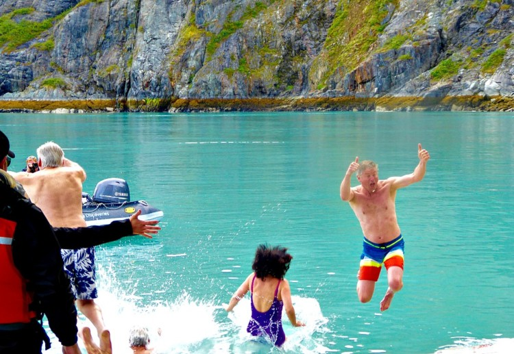 Go for a swim when cruising Alaska? Taking the plunge, polar plunge that is.