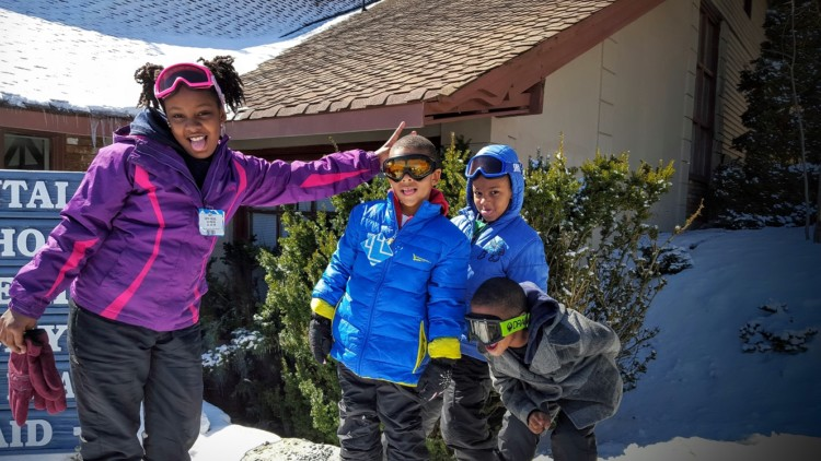 Allow for some fun when taking first time skiers, especially kids, to the slopes.