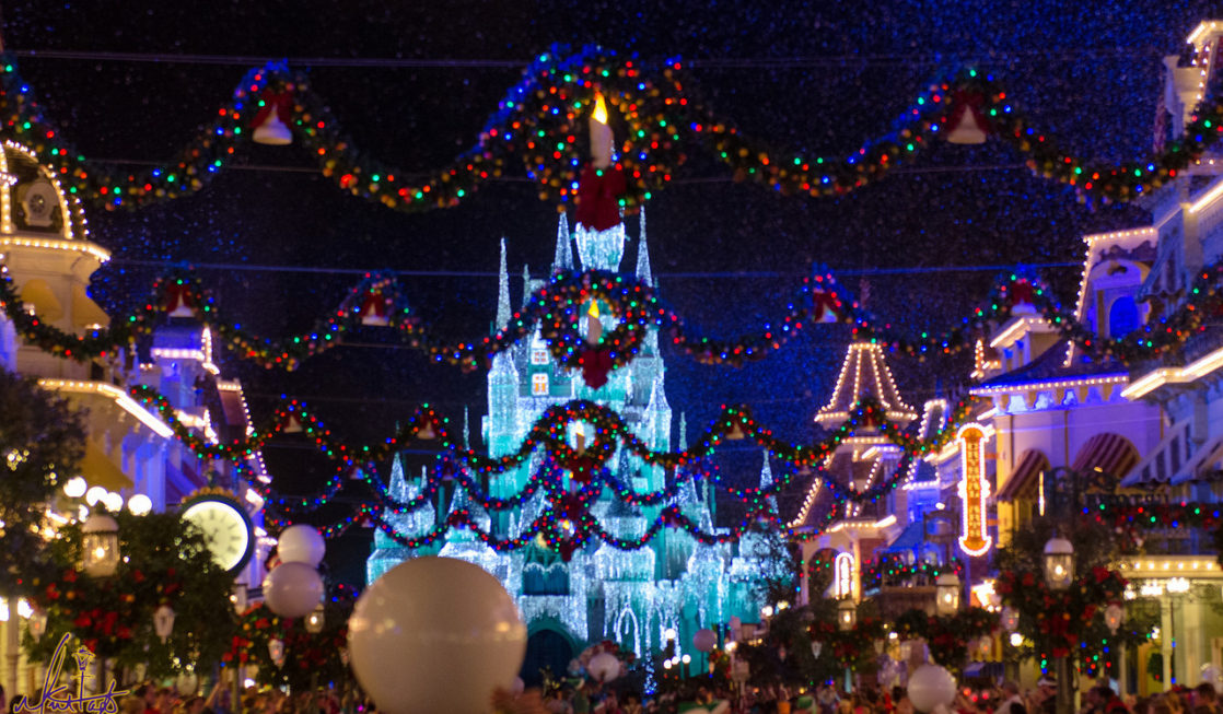 Magic Kingdom Christmas Lights
