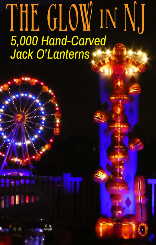 5,000 hand-carved jack o'lanterns at THE GLOW in NJ.