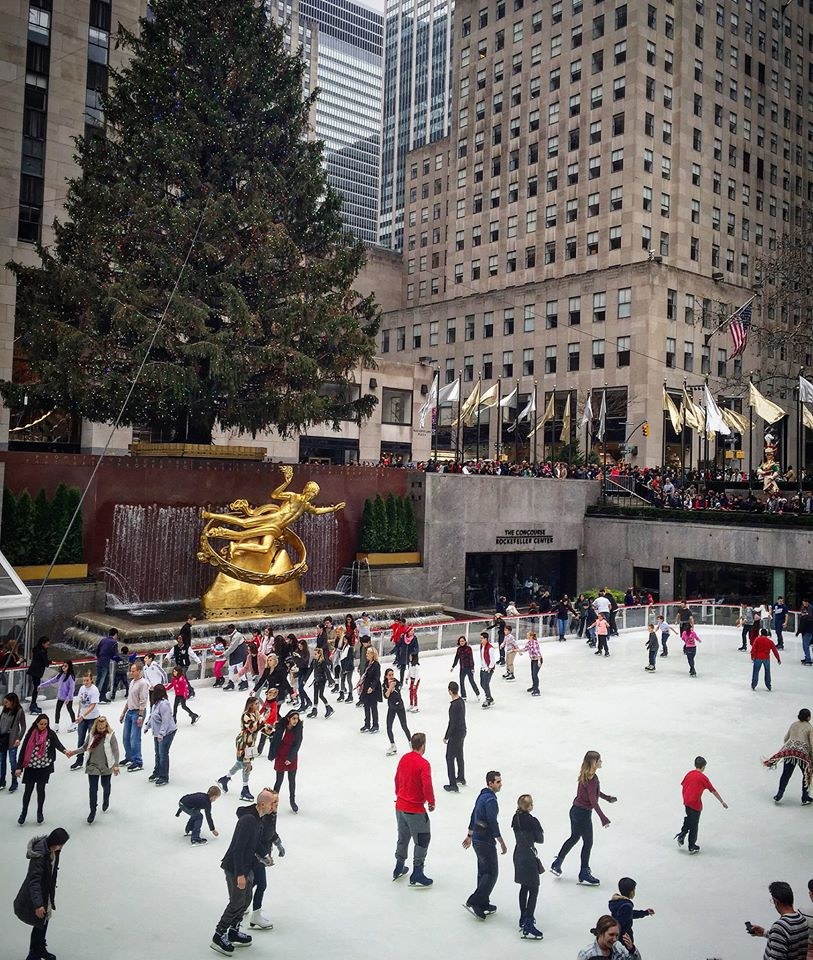 New York City, especially Rockefeller Center, is magical at Christmas time. Photo: Philadelphia TravelingMom Sarah Ricks