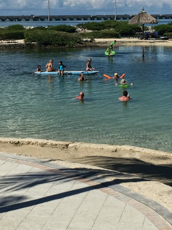 Things to do  Hawks Cay Resort - play in the lagoon.