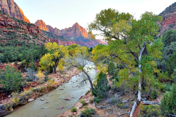 Zion National Park is only a short drive away from Zion Mountain Ranch - photo by Yvonne Jasinski Credit Card TravelingMom