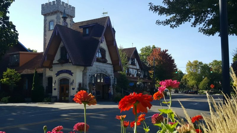 A glimpse at downtown Frankenmuth, Michigan