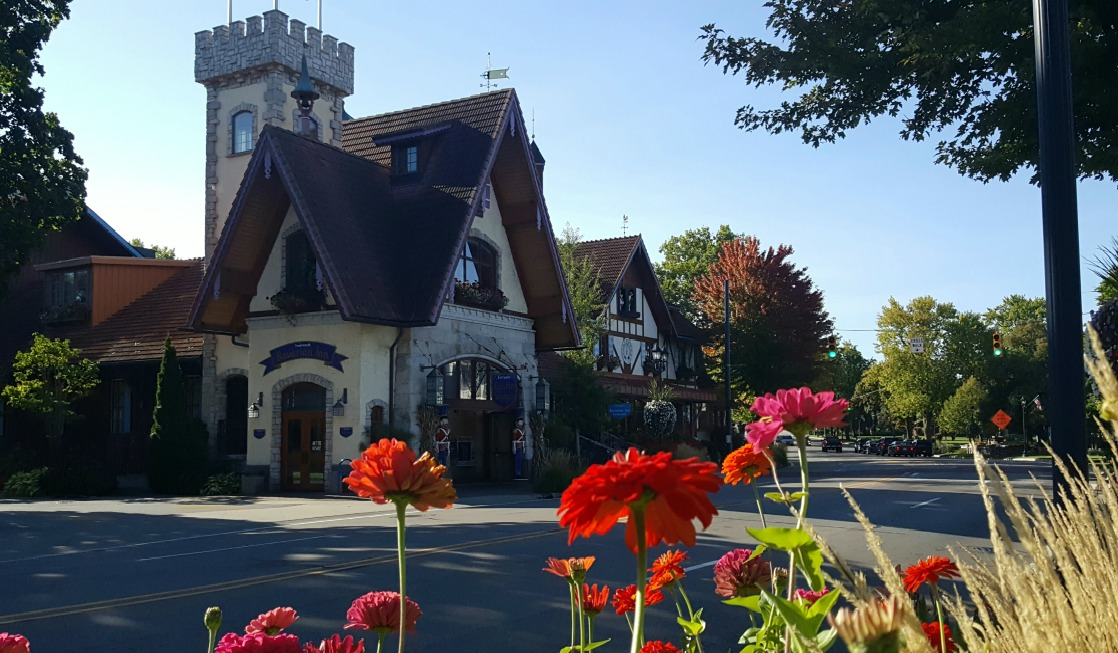 A glimpse at downtown Frankenmuth, Michigan.