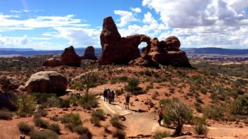 One of many magnificent views at Arches National Park