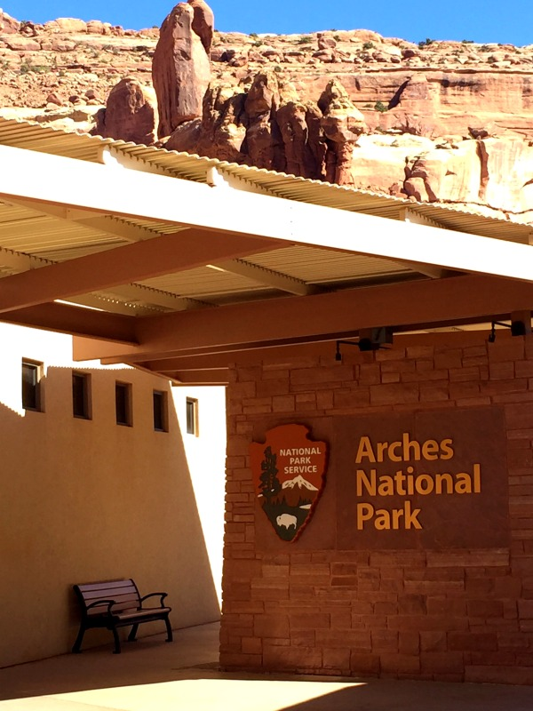 The Arches National Park Visitors Center is worth a stop.