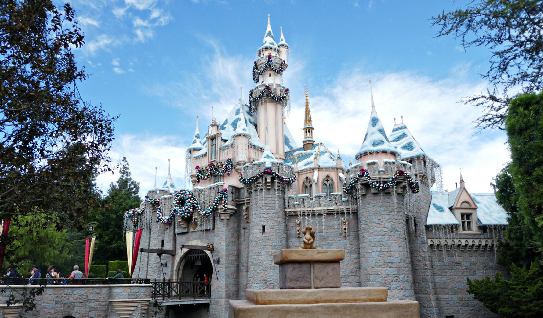 Image result for disneyland christmas castle