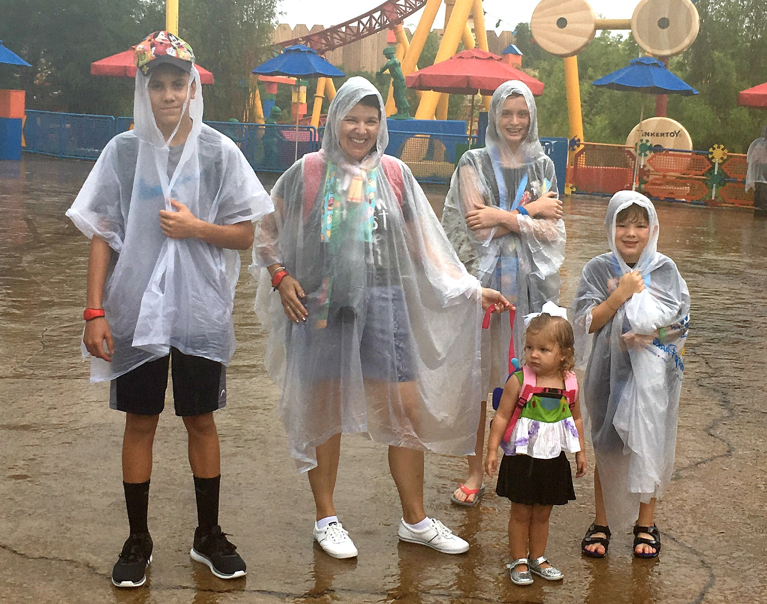 Families can still enjoy Disney World in the rain.
