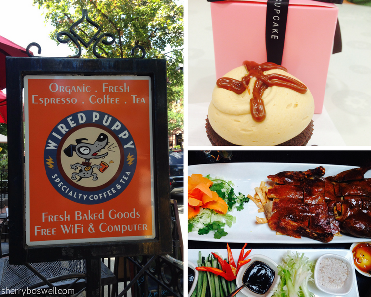 Boston where to eat, stay and play collage of food