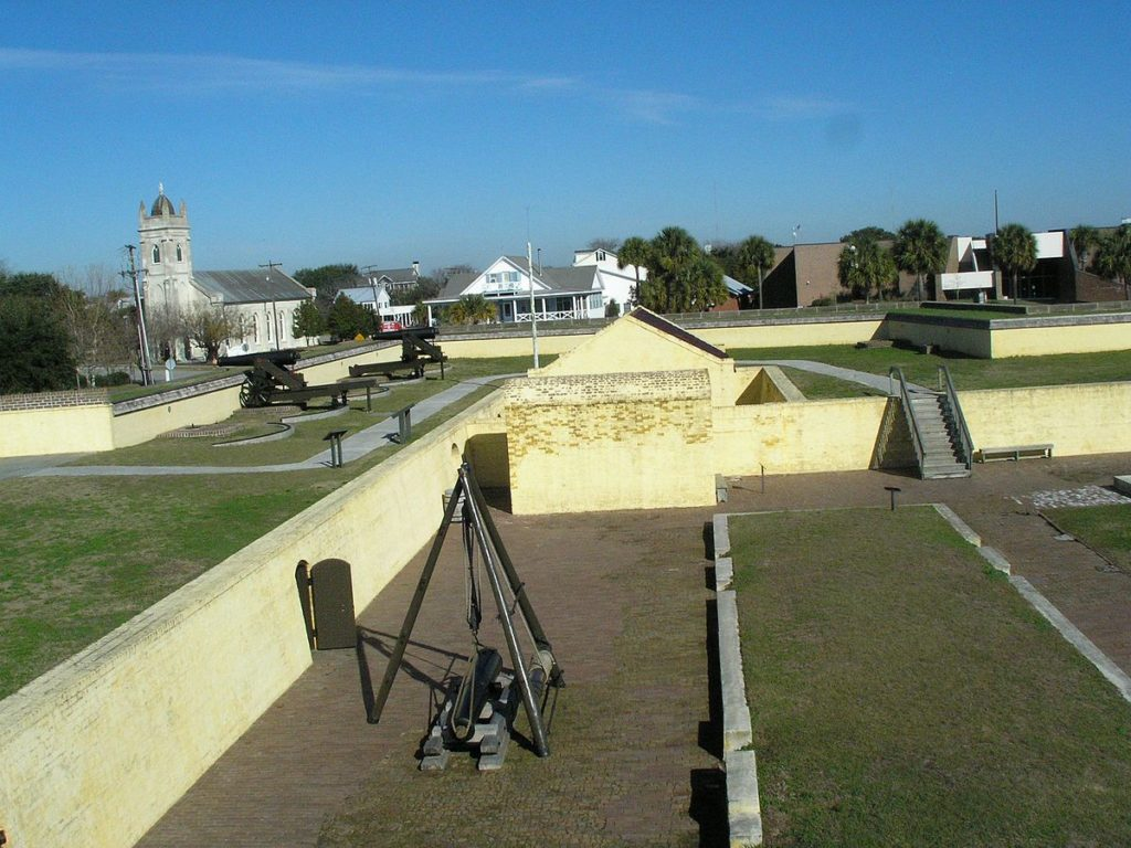 Fort Moultrie on Sullivan Island near in Charleston.