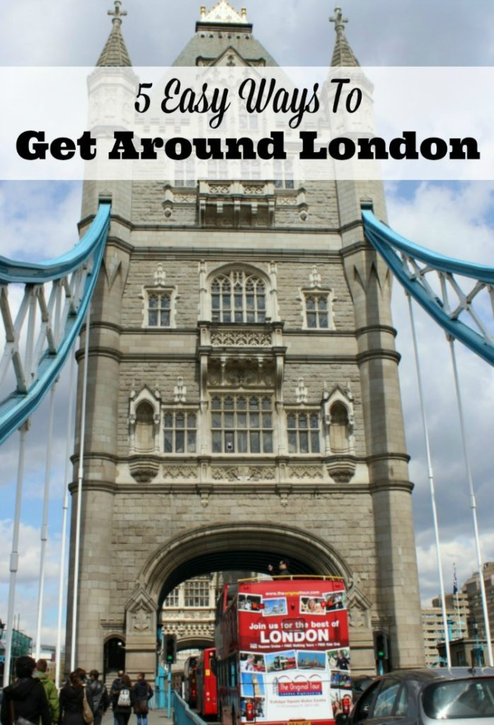 Need easy tips for getting around London? Here's five we use to save us time and energy!