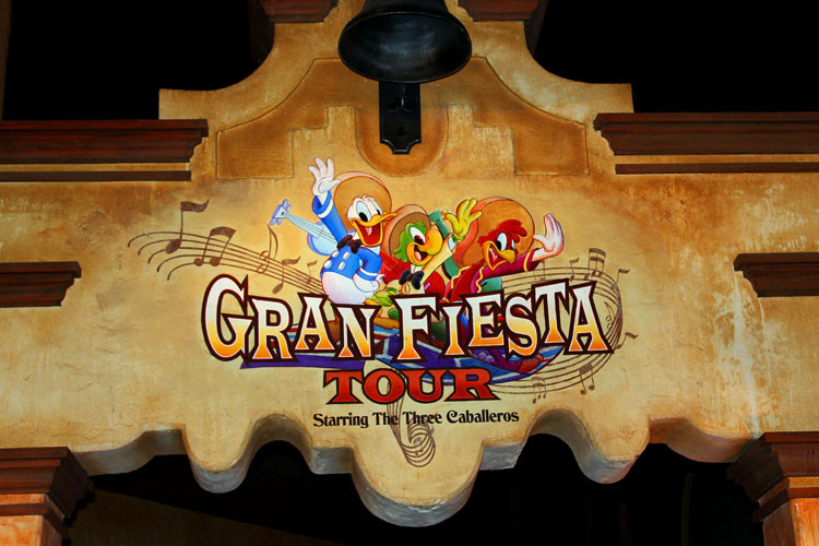 Kids under 5 will love riding Gran Fiesta Tour with Donald and friends.