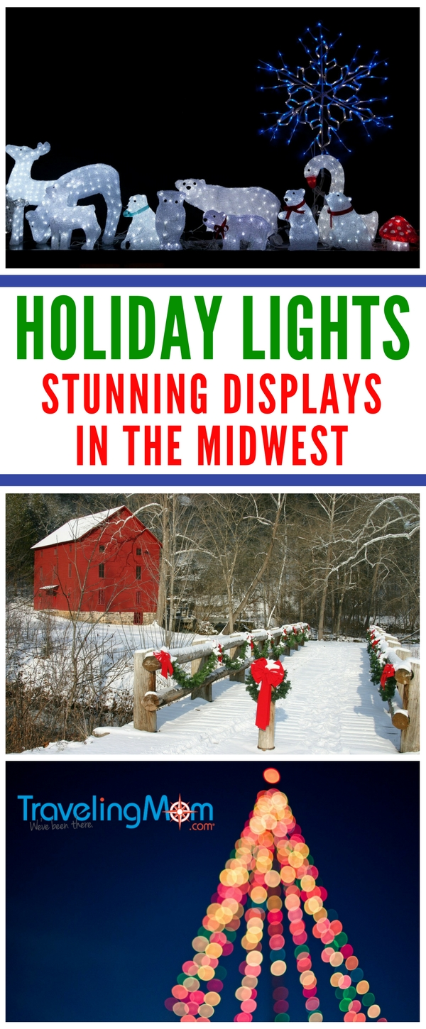 Looking for the best places to check out holiday lights in the Midwest? Here's our top picks for #Christmas #displays in Illinois, Indiana, Ohio, Wisconsin, Michigan, Minnesota, South Dakota and Iowa.