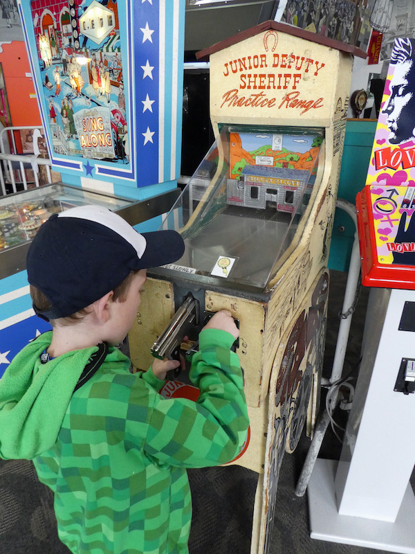 Gaming fun at Musee Mecanique is perfect for Multigenerational Adventures in San Francisco