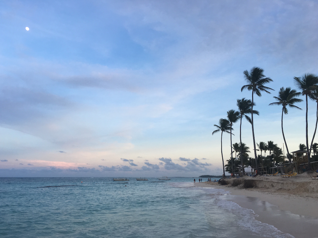 The beach at the Ocean Blue and Sand in Punta Cana, Dominican Republic, a family-friendly all inclusive.