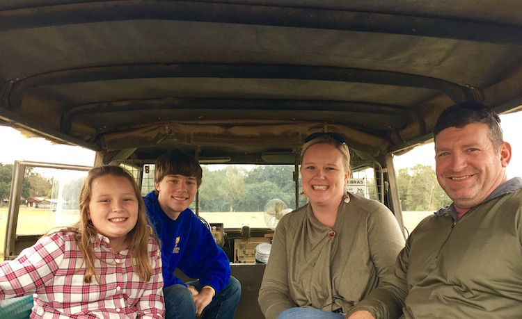 Learn through touch on a Safari adventure at the Global Wildlife Center in Folsom, Louisiana. Hand feed giraffe, bison, deer, elk and more.