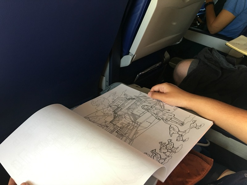 Coloring book holiday travel