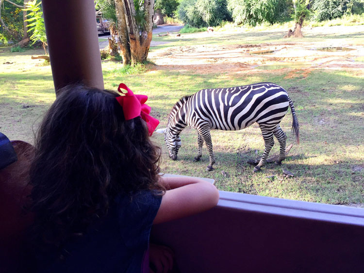 Kids under 5 will love getting up close and personal with the animals on Kilimanjaro Safari at Disney World.