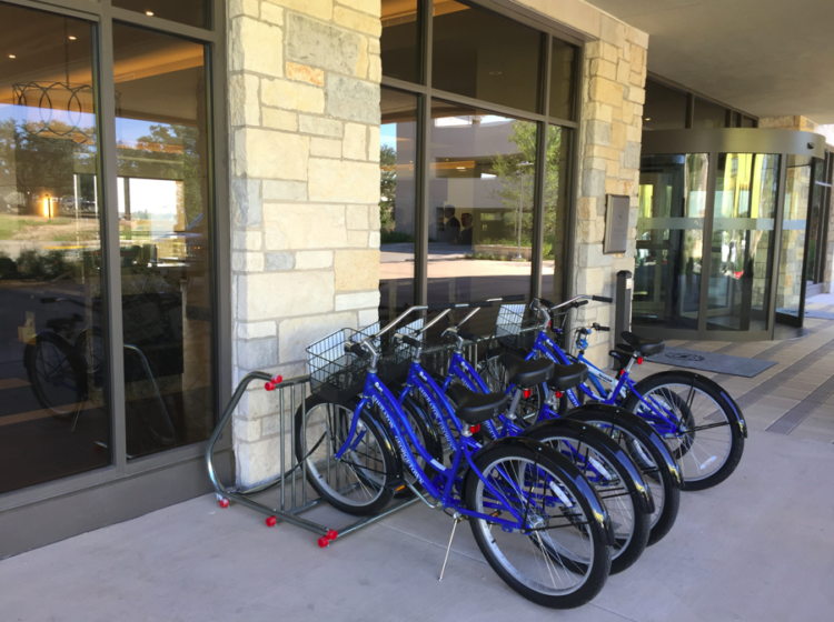 Free bike rentals from Sheraton Georgetown in Georgetown, Texas.