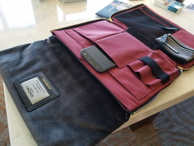 This Knomo bag is a fashionable way to charge your devices.