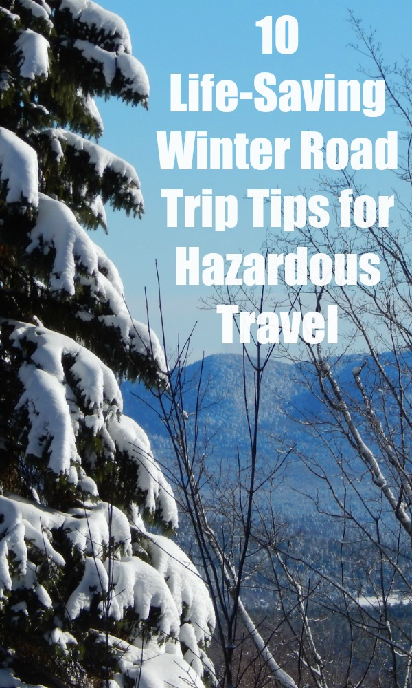 Need to brush up on your winter weather safety tips for this season? Here's 10 life-saving winter road trip tips to keep you safe and in the know. #familytravel #wintergetaway #carsafety #traveltips