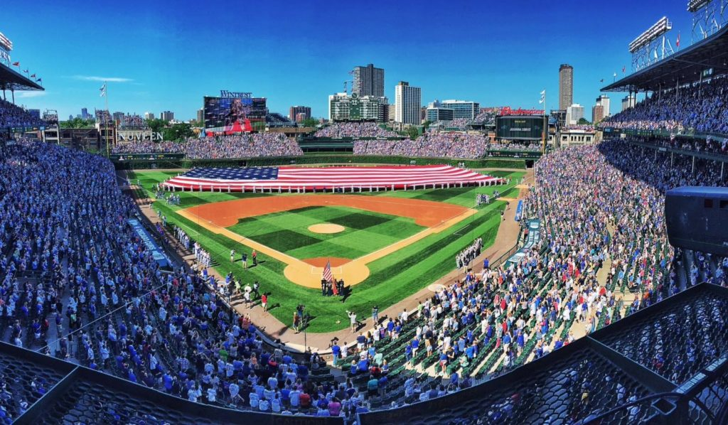 Wrigley Field home of the World Series champion Chicago Cubs