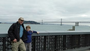 San Francisco bay view from the Exploratorium during a multigenerational family adventure