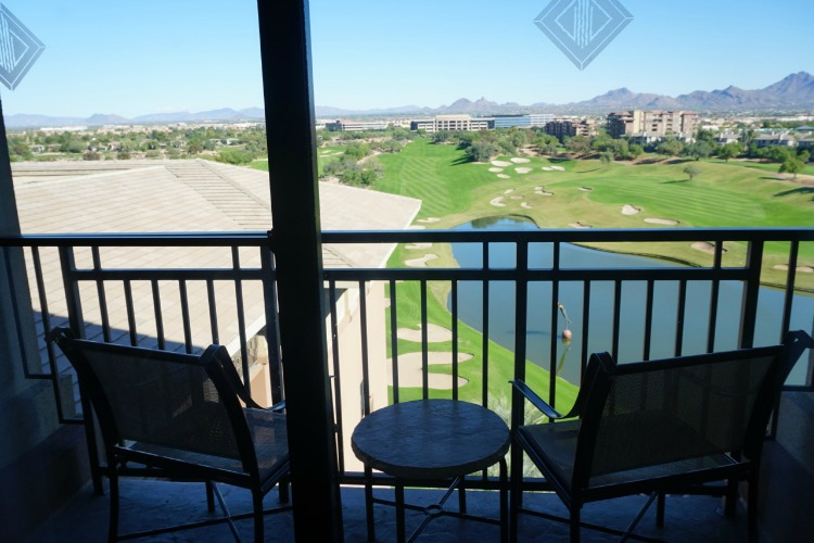 While my son was relaxing and watching movies during our downtime, I enjoyed sitting out on the balcony of our room at the Westin Kierland. Photo by Multidimensional TravelingMom, Kristi Mehes.