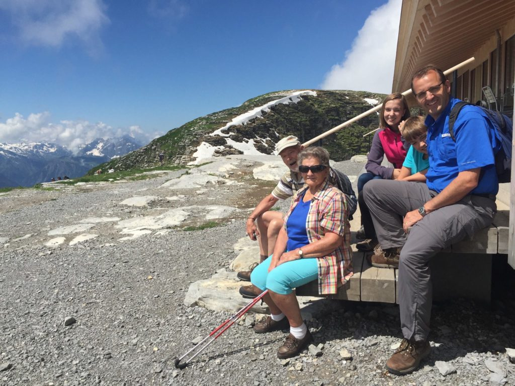 Hiking in Switzerland was the perfect activity with grandparents.