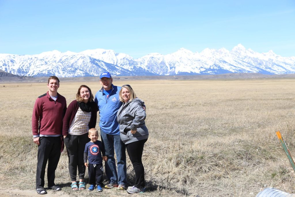 Jackson Hole, Wyoming makes a picture perfect family photo backdrop.