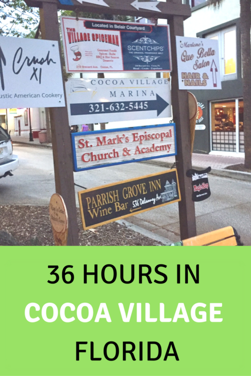 Historic Cocoa Village is an enchanting spot on Florida's Space Coast with quirky shops, beaches, walking trails and good eats just an hour from Orlando.