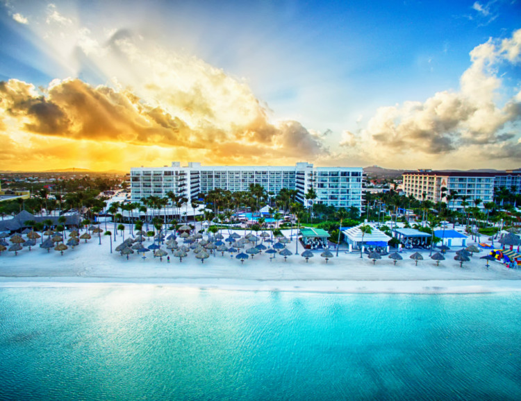 Escape to the Caribbean and Latin America with these winter travel deals from Marriott. Photo Credit: Aruba Marriott Resort