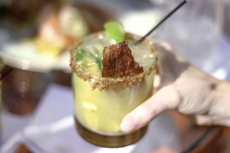 Bacon jalapeno margarita at The Naples Grande. Photo Credit: Hannah Rinaldi | Fabulously Frugal TravelingMom