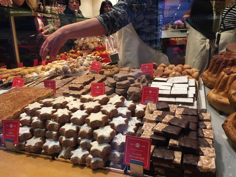 Bakeries in France offer every kind of cookie during the Christmas Markets