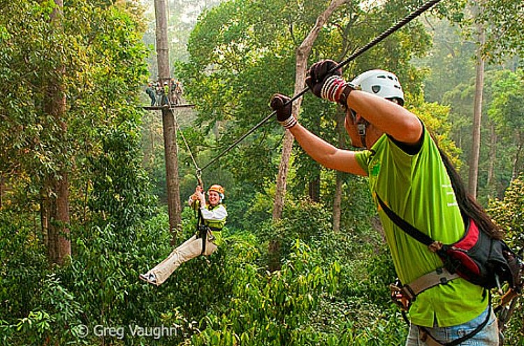 Traveling solo adventures include Ziplining adventure in Chiang Mai, Thailand