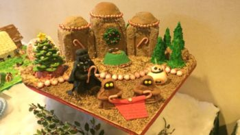 Kids can enter their creative gingerbread houses in the competition at the Grove Park Inn.
