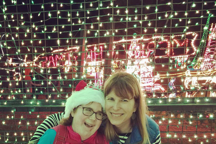 Suzanne and daughter Kinsey enjoy the Walkway of Lights in Marble Falls, Texas. Photo Credit: Suzanne Young