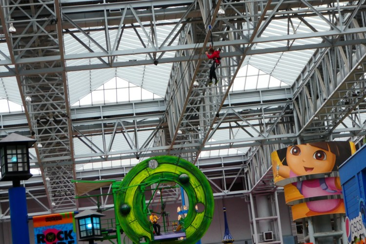 Photo by Jamie Bartosch/Suburban TravelingMom Ziplining is a new attraction at Mall of America.