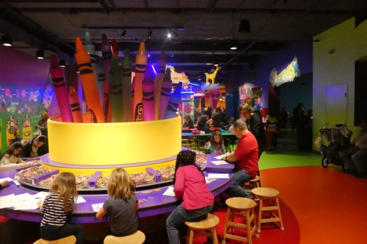 Photo by Jamie Bartosch/Suburban TravelingMom The Crayola Experience is great for younger kids who love to color and create.