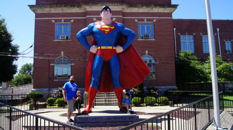 Superman in Metropolis, IL